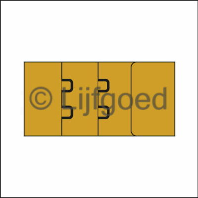 bh sluiting 2-haaks